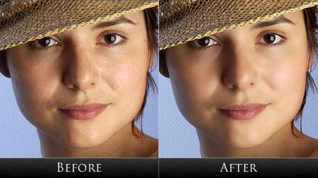 Photoshop facial retouch with you