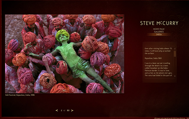 Stevemccurry.com - Create a Website for your Photography
