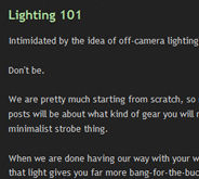 Lighting 101