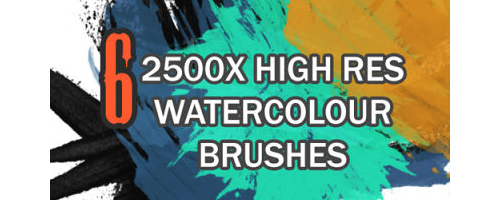 High Res Water Color Brushes