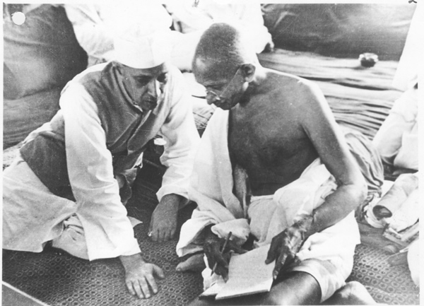 Nehru and Gandhi