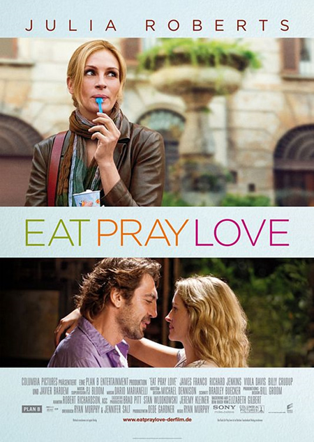 Eat Pray Love - Movie Posters with Romantic Photography