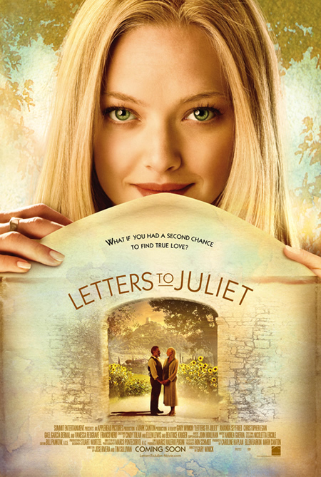 Letters to Juliet - Movie Posters with Romantic Photography
