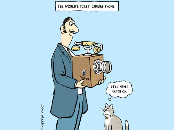 First Camera Phone - Funny Photography Comics and Cartoons