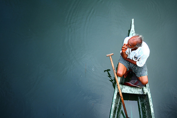 Let me take some rest - Fisherman, Kerala, India