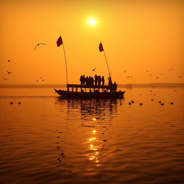 Sunrise, Ganges, India