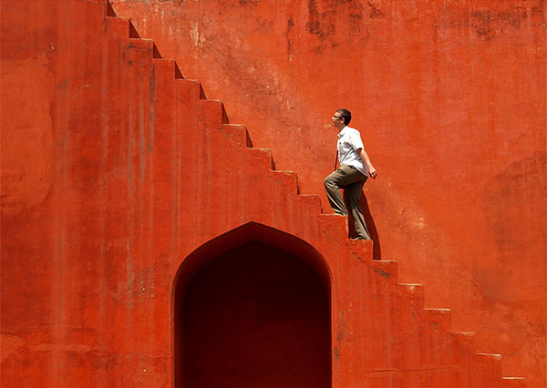 Red stairs - Jantar Mantar