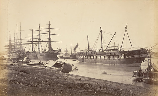 Hooghly River Bank after the Cyclone - Calcutta (Kolkata) 1867