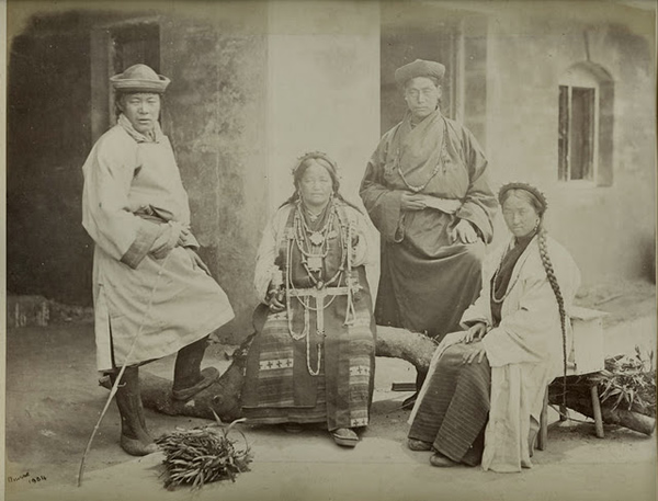 Group Photograph of Bhutia People of Darjeeling - 1860's