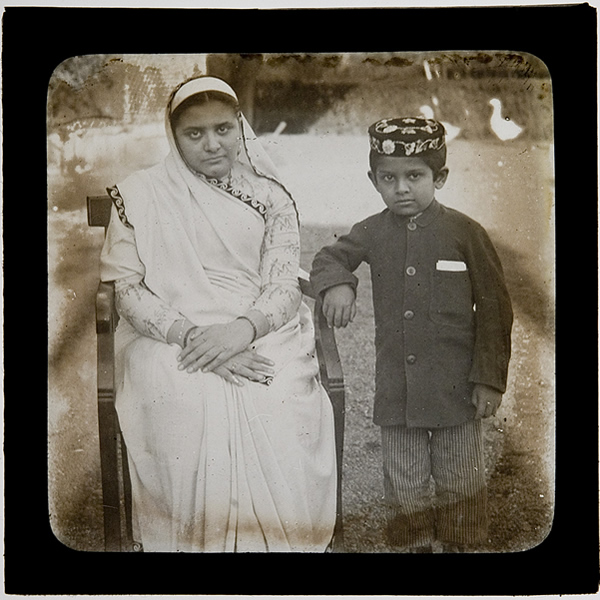 Parsi woman and son - India