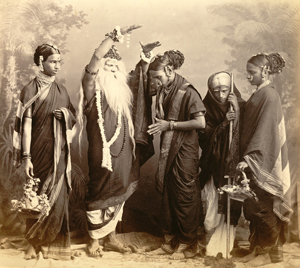 Studio Portrait of a Marathi Theatrical troupe - Bombay