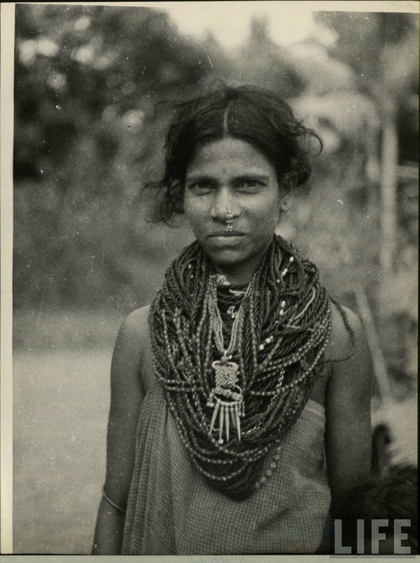 Portrait of an Indian Tribal Woman