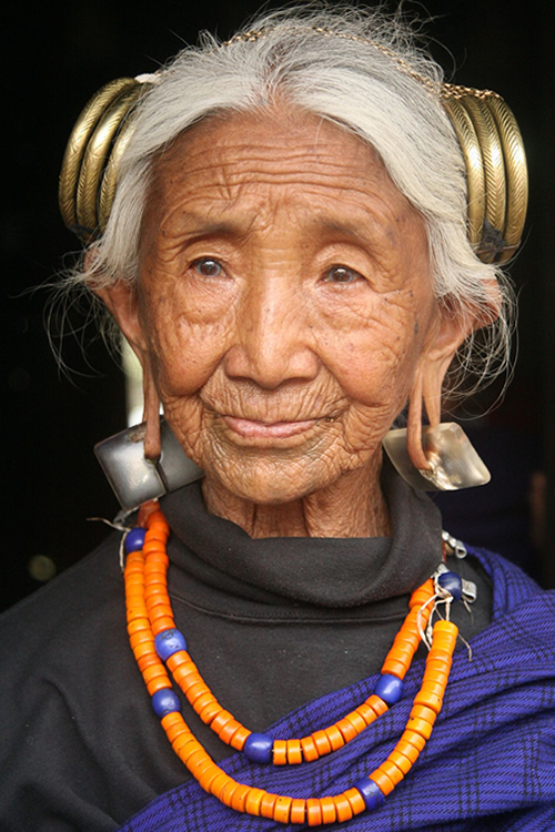 Portrait of Old Woman - Nagaland, India