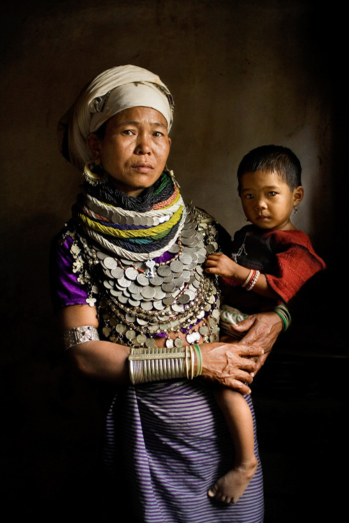 Reang Tribal Mother and Child - Tripura, India