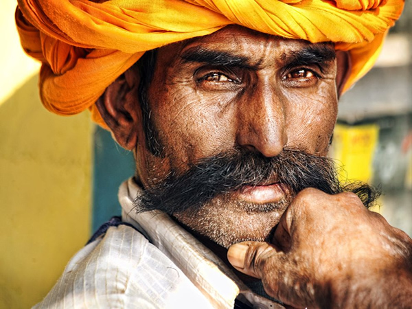 Portrait of Man - Bundi, Rajasthan, India