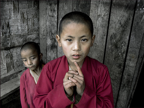 Young Monks - Sikkim, India