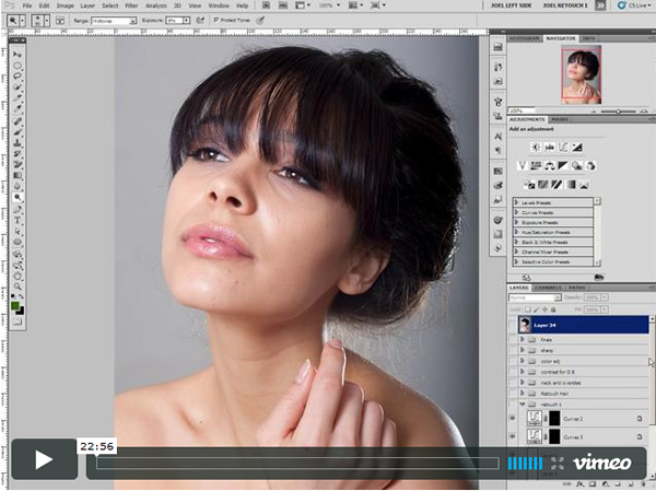12) Professional Portrait Photo Retouching Video Tutorials