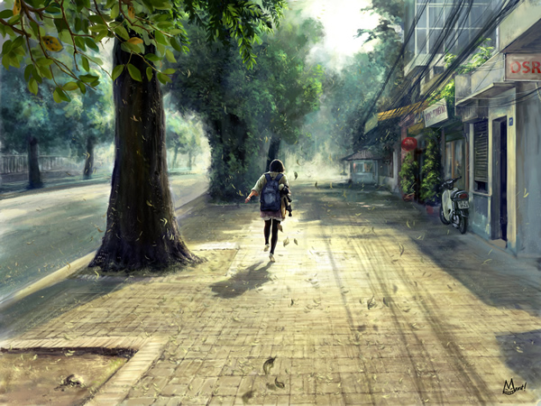 Deserted street - Digital Paintings