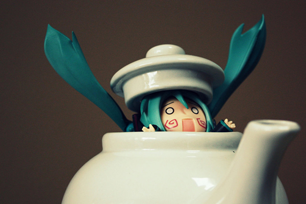 Miku Says the Tea is Hot - Humorous Photography