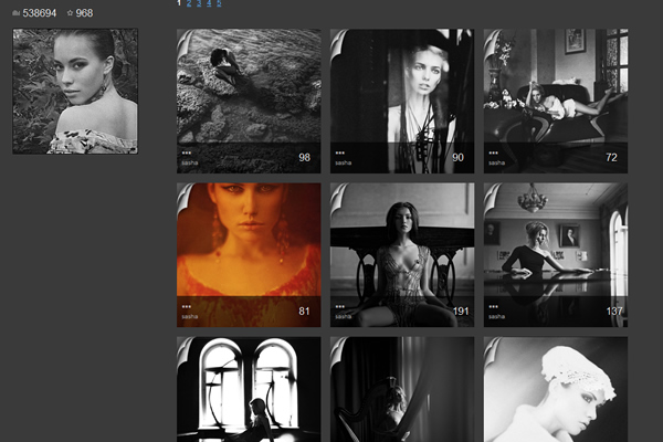 Sasha - Fine Art Photographers websites