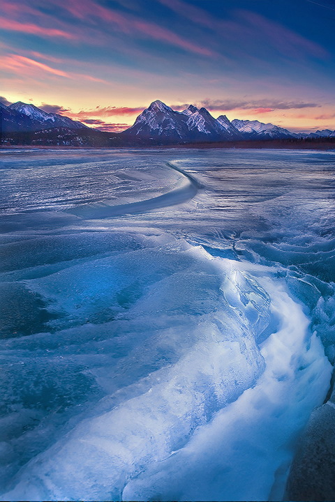 Abraham Lake in Banff National Park