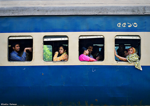 Waiting for the whistle - Komolapur Rail station , Dhaka, Bangladesh