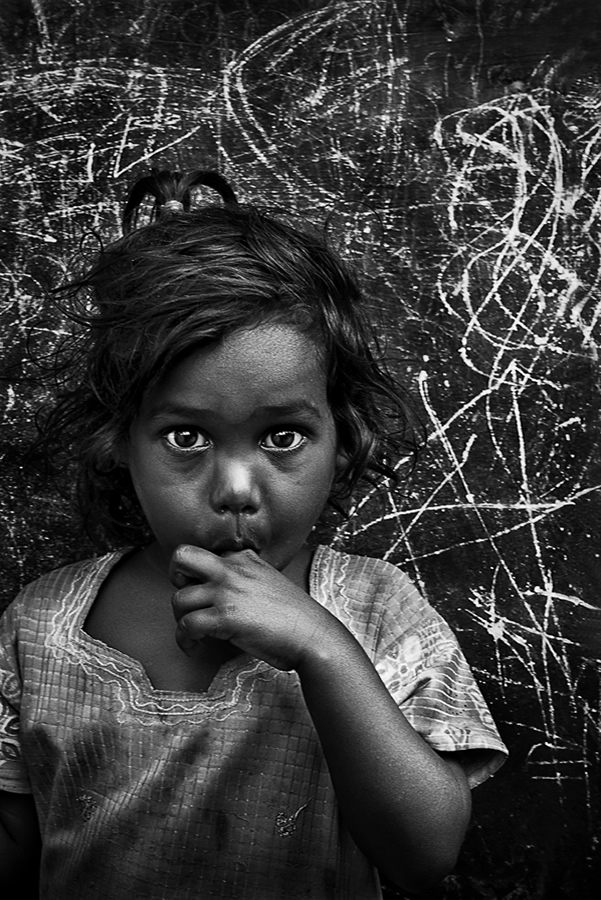 Indian Black And White Portrait Photography