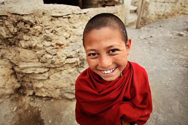 Portrait of Little Monk - Ladakh, India
