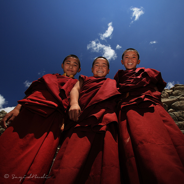 Portrait of Smiling Monks
