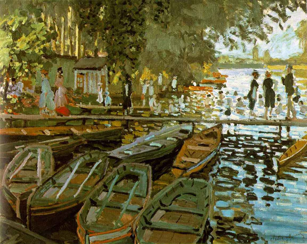 Bathing at La Grenouillere by Claude Monet