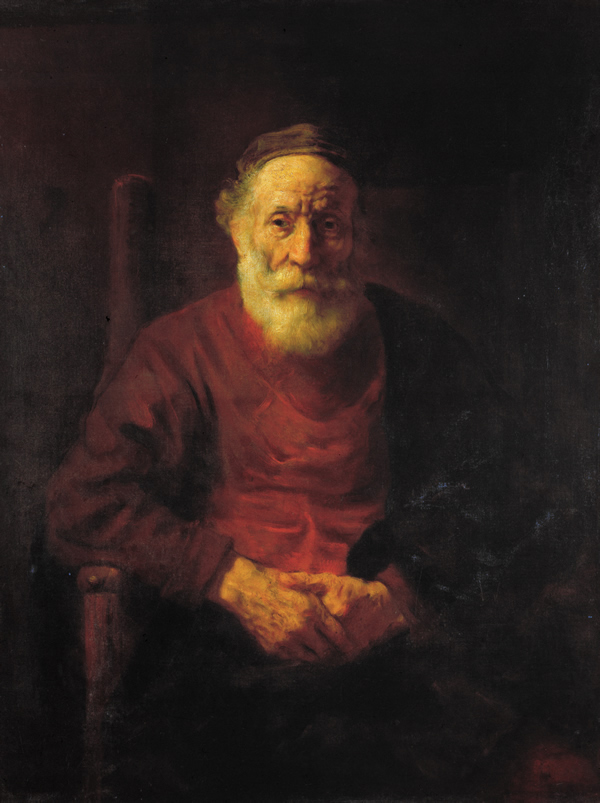 An Old man in Red by Rembrandt Harmenszoon van Rijn