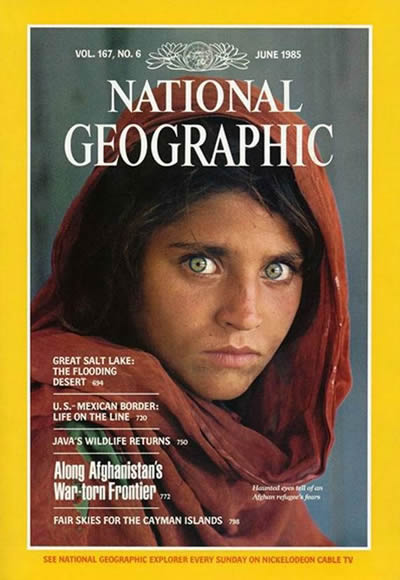 The Best of National Geographic Magazine Covers  - June 1985—Afghan Girl