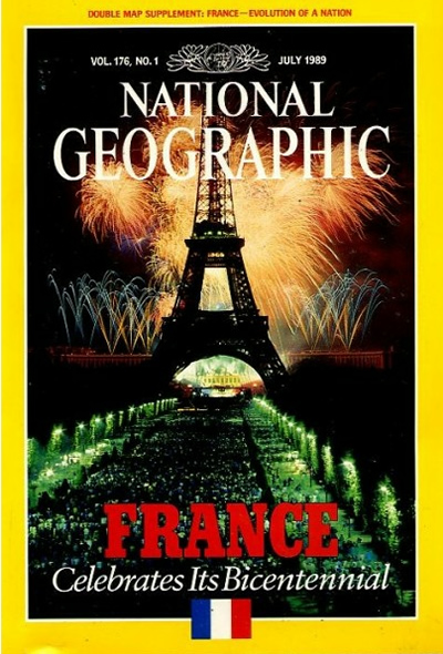 The Best of National Geographic Magazine Covers  - July 1989—France Celebrates Its Bicentennial