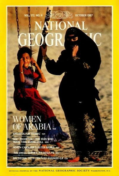 The Best of National Geographic Magazine Covers  - October 1987—Women of Saudi Arabia