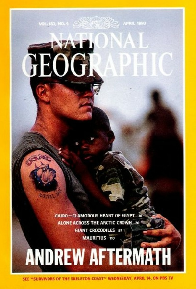 The Best of National Geographic Magazine Covers  - April 1993—Andrew Aftermath