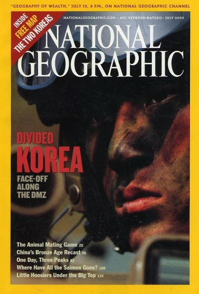 The Best of National Geographic Magazine Covers  - July 2003—Divided Korea