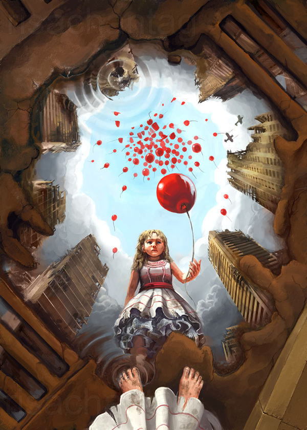 99 Red Balloons - 25 Truly Amazing Digital Paintings