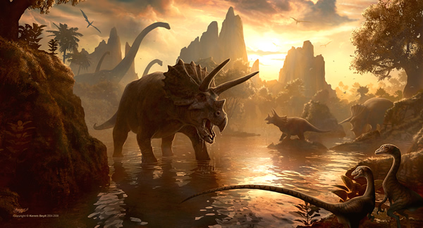Cretaceous Sunset - 25 Truly Amazing Digital Paintings