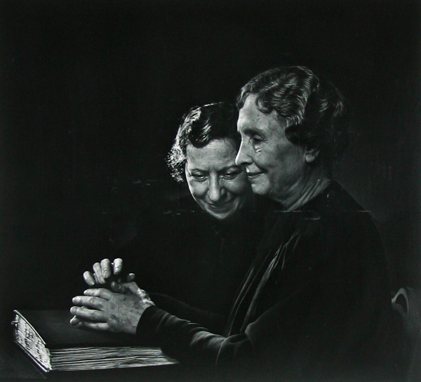 Helen Keller, with Polly Thompson - Portraits by Yousuf Karsh