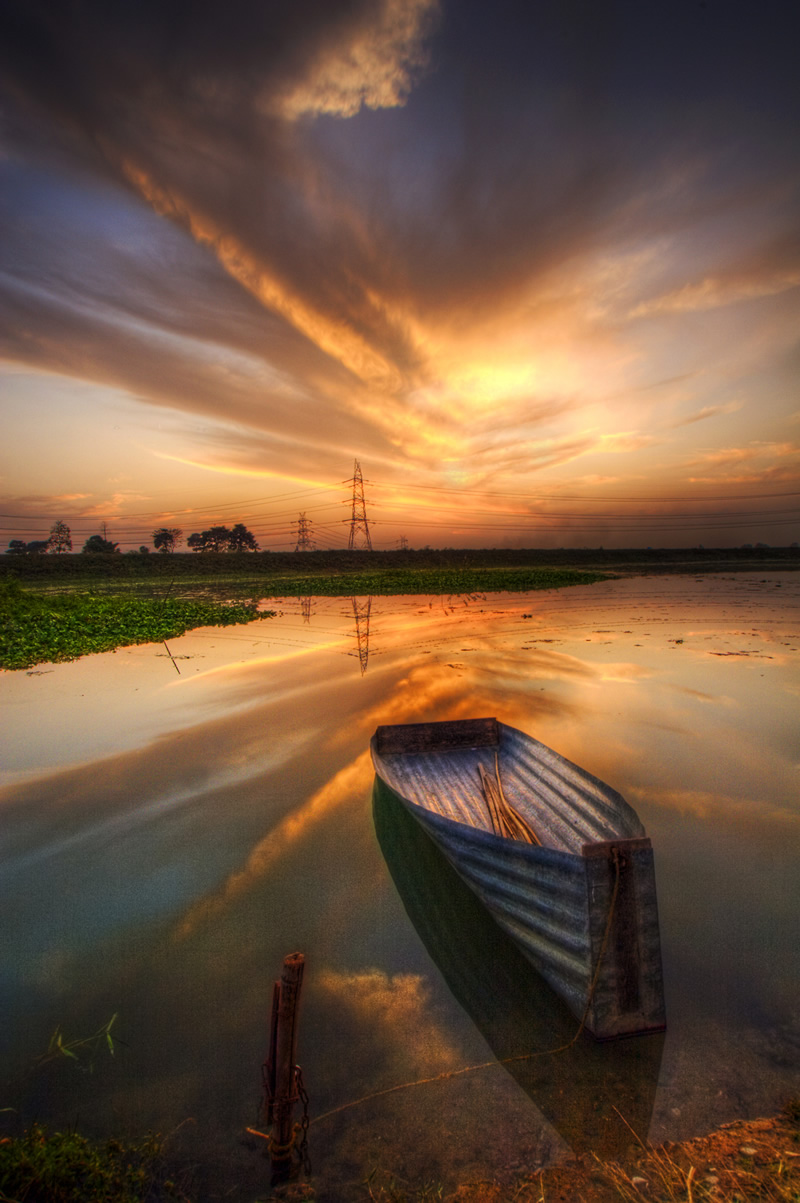 landscape entries contest landscapes stunning photographer photograph wonderful bengal awesome foreground 121clicks sunset west digital photographers boat sany amlan name