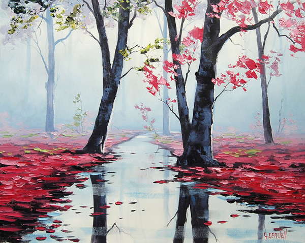 Misty Pink - 30 Inspirational Examples of Traditional Paintings