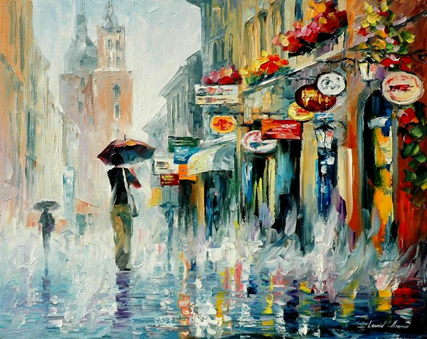 Downpour - 30 Inspirational Examples of Traditional Paintings