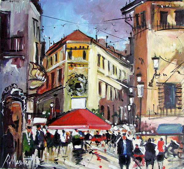 Paris street corner - 30 Inspirational Examples of Traditional Paintings