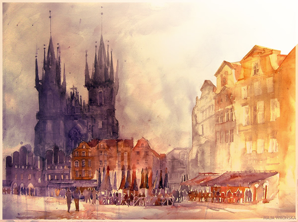 Praha - 30 Inspirational Examples of Traditional Paintings