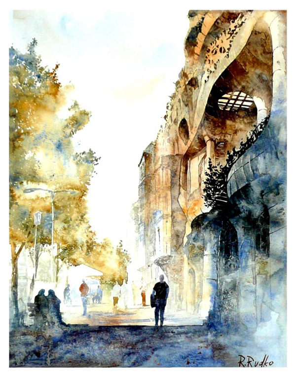 Barcelona watercolour - 30 Inspirational Examples of Traditional Paintings