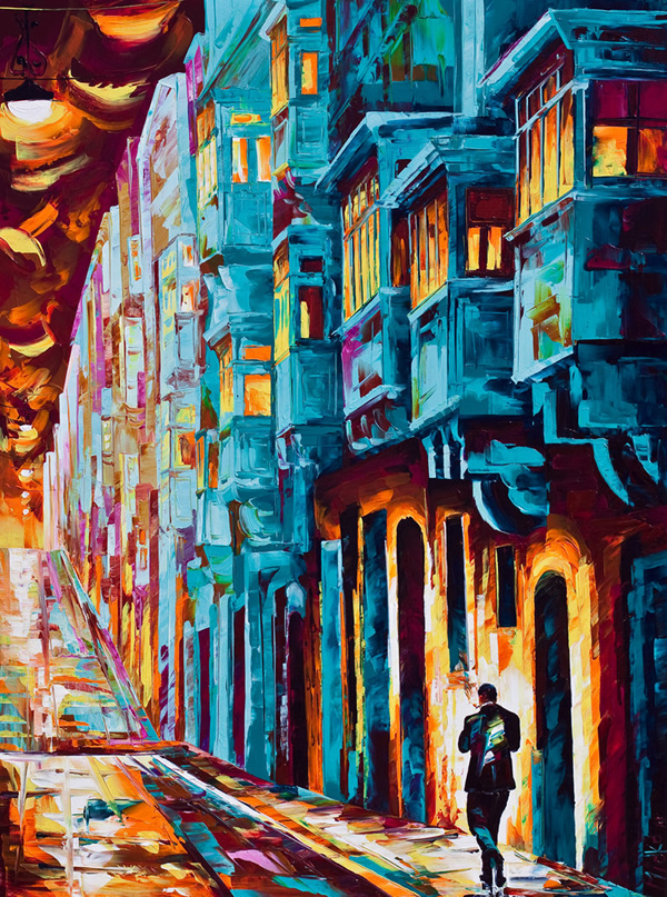 Valletta Twilight - 30 Inspirational Examples of Traditional Paintings