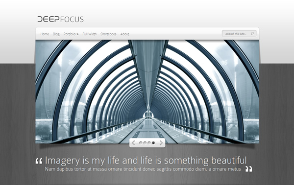 DeepFocus Photography Responsive WordPress Theme