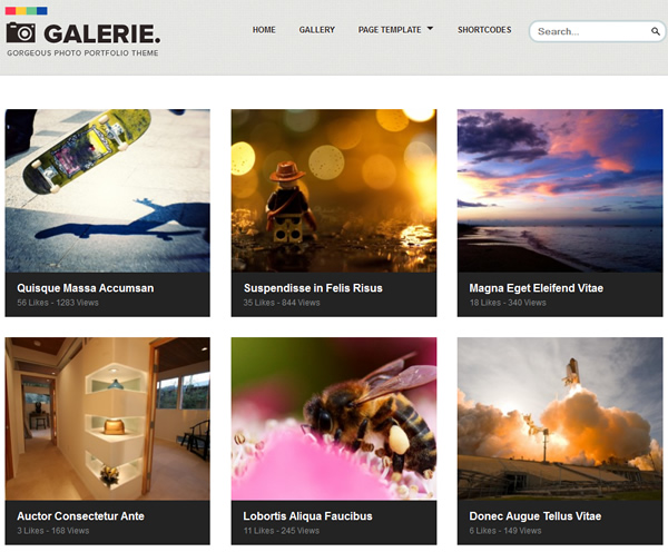 Galerie Photography Responsive WordPress Theme