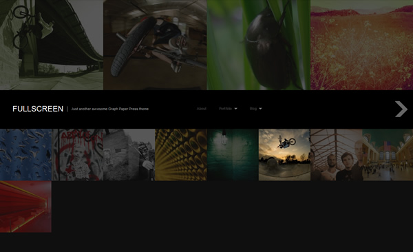 Full Screen Photography WordPress Responsive Theme