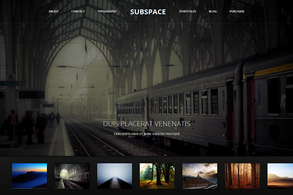 Subspace - Portfolio WordPress Theme